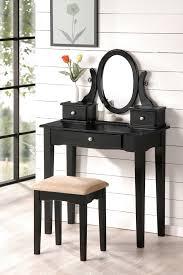 Nice Vanity Sets Nice Black Wooden Makeup Vanity Sets 728x1095 Jpg