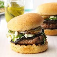 feta mushroom burgers recipe taste of home