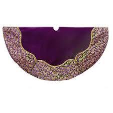 purple and gold velvet tree skirt