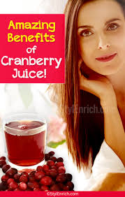 benefits of cranberry juice on hair skin and overall health