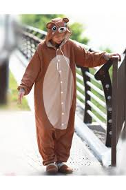 Brown Bear Halloween Costume Brown Bear Onesie Animal Costumes 4kigurumi