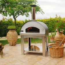 fontana forni mangiafuoco wood fired pizza oven with cart anthracite
