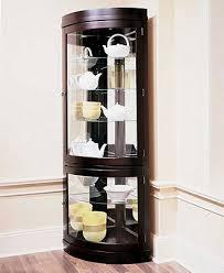 curved corner curio cabinet contemporary curved corner curio cabinet accent furniture corner