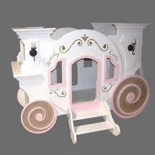 bedroom cute princess carriage bed for cozy kids bedroom design