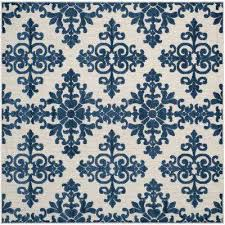 Royal Blue Outdoor Rug High Low Square Outdoor Rugs Rugs The Home Depot