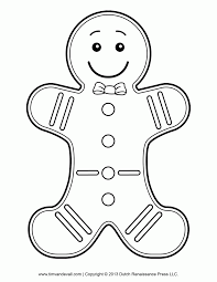 ginger man coloring page coloring home