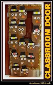 image of thanksgiving door decorations alecia marsh classroom