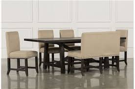 living spaces dining room sets jaxon 6 piece rectangle dining set w bench wood chairs bench
