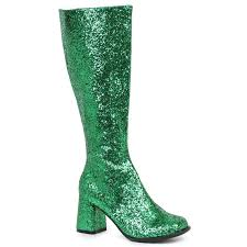 womens boots bc s green glitter gogo boots buycostumes com
