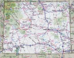 Colorado Map Of Cities by Large Detailed Roads And Highways Map Of Wyoming State With All