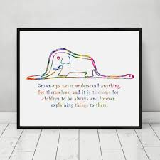 aliexpress com buy the little prince boa and elephant quote