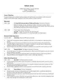 resume for part time jobs in uk cv exles student jobs part time job cv exle jobsxs com