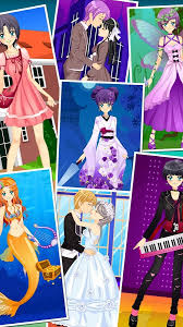 anime dress up games for girls couple love kiss android apps