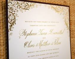 gold wedding invitations gold foil wedding invitations kawaiitheo