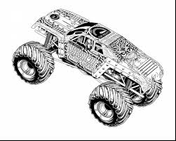 unbelievable printable monster truck coloring pages with monster