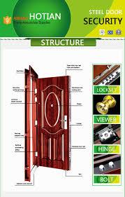 Main Entrance Door Design by Heat Transform Steel Security Door Main Entrance Single Door