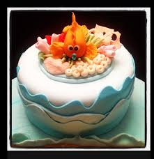 baby shower cake for a marine biologist she loves the ocean and