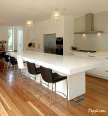 long narrow kitchen island