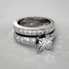 princess cut wedding set cut diamond wedding set in 14k white gold