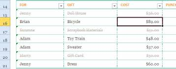 christmas gift list gift list template for excel 2013