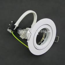 Gu10 Light Fixture White Fitting Gu10 Led Downlight Kit Ceiling Recessed Trim