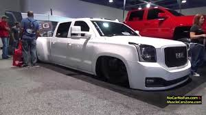 2015 luxury trucks white slammed gmc truck 2015 sema motor show youtube