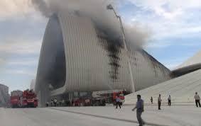 fire damages zaha u0027s baku cultural centre news architects journal