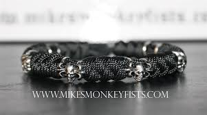 metal beads bracelet images Custom paracord bracelet with specialty skull beads gif