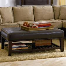 Leather Ottoman Tufted 500872 Tufted Ottoman With Storage Shelf Ottomans Living Room
