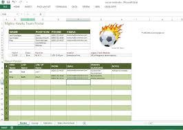 Football Depth Chart Template Excel Soccer Roster Free Excel Template Excel Templates For Every Purpose