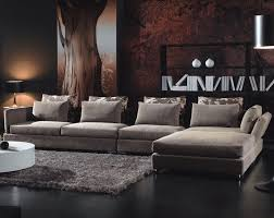 Furniture For Livingroom by Lavish Sofa Also Black Table And White Drum Shade Chandelier As