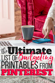 the ultimate list of budgeting printables from pinterest busy