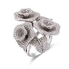 rings wholesale images Flower big fashion jewelry for party cubic zirconia luxury rings jpg