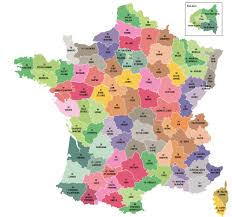Political Map Of France by France Coloured And Outline Maps Of The Departments