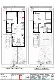 home design for 20x50 plot size 20 x 50 square feet house plans fresh house plan for 25 feet by 53