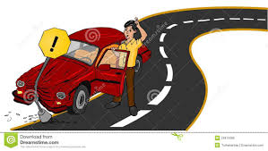 wrecked car clipart accident car on road royalty free stock photo image 22874385