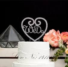 wedding cake decorating supplies shape we do rhinestones cake topper for