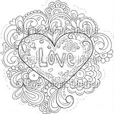 140 hearts color images coloring books