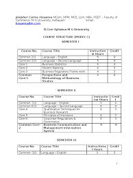 b com syllabus m g university entrepreneurship audit