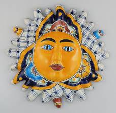 Garden Wall Plaque by Ceramic Sun Wall Art Shenra Com