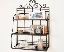 Wall Mounted Kitchen Shelves by Kitchen Racks Best 25 Pot Rack Hanging Ideas Only On Pinterest