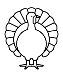 thanksgiving day coloring page sheets turkey simple outline