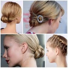 easy fancy updos for medium hair ute elegant side updo everyday