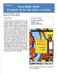 tarot rider waite el espejo de la vida libro cartas 153379