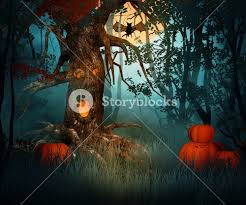 Halloween Backdrop Scary Forest Halloween Backdrop Royalty Free Stock Image Storyblocks