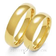 obraczki slubne obrączki ślubne klasyczne półokrągłe 5mm szerokości z pr 585