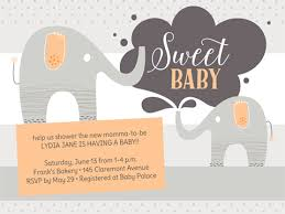 baby shower invitations smilebox