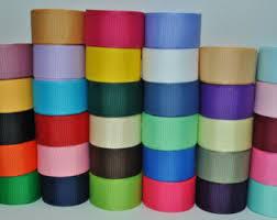 3 grosgrain ribbon solid color ribbon etsy