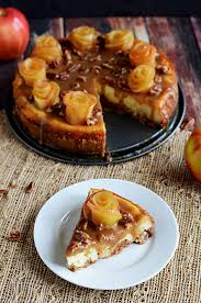 salted caramel apple cheesecake with apple roses host the toast