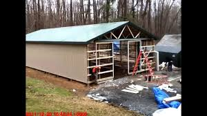 pole barn construction youtube